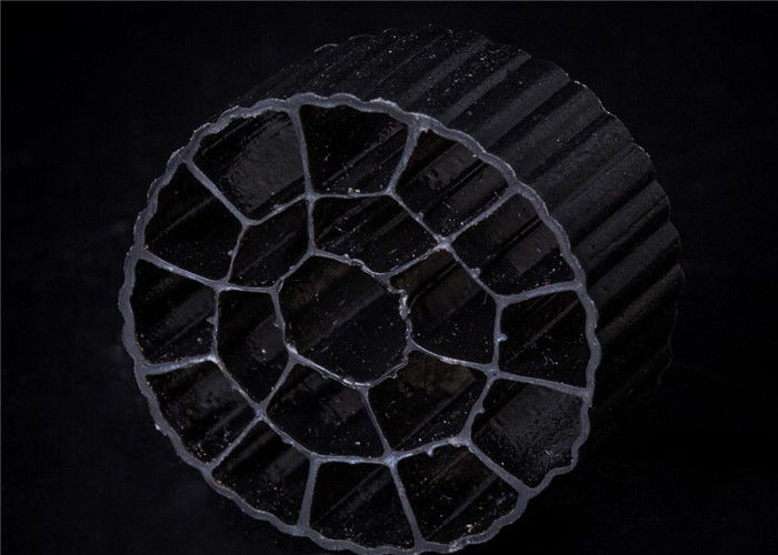 Plastic black color  Koi  Kaldnes Filter Media with Good Impact Resistance for aquaculture